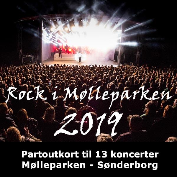 6d0242ce Rock i Mølleparken 2019: Kultur i Syds partoutkort til ...